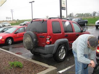 Broken down jeep