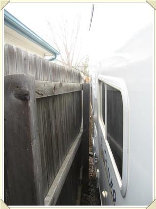 Trailer and fence